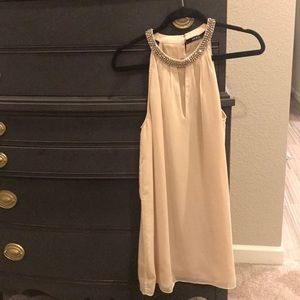 Beaded neckline long tunic/dress/blouse